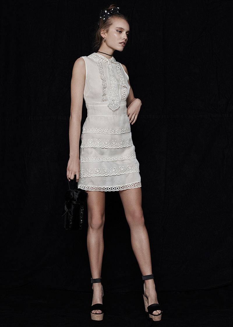 Red Valentino Eyelet Lace Mini Dress