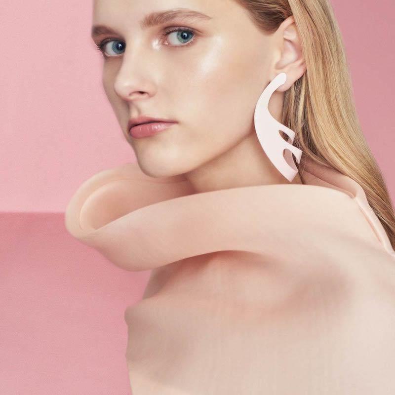 Roxanne Assoulin for Rosie Assoulin Pink Hoop Earrings