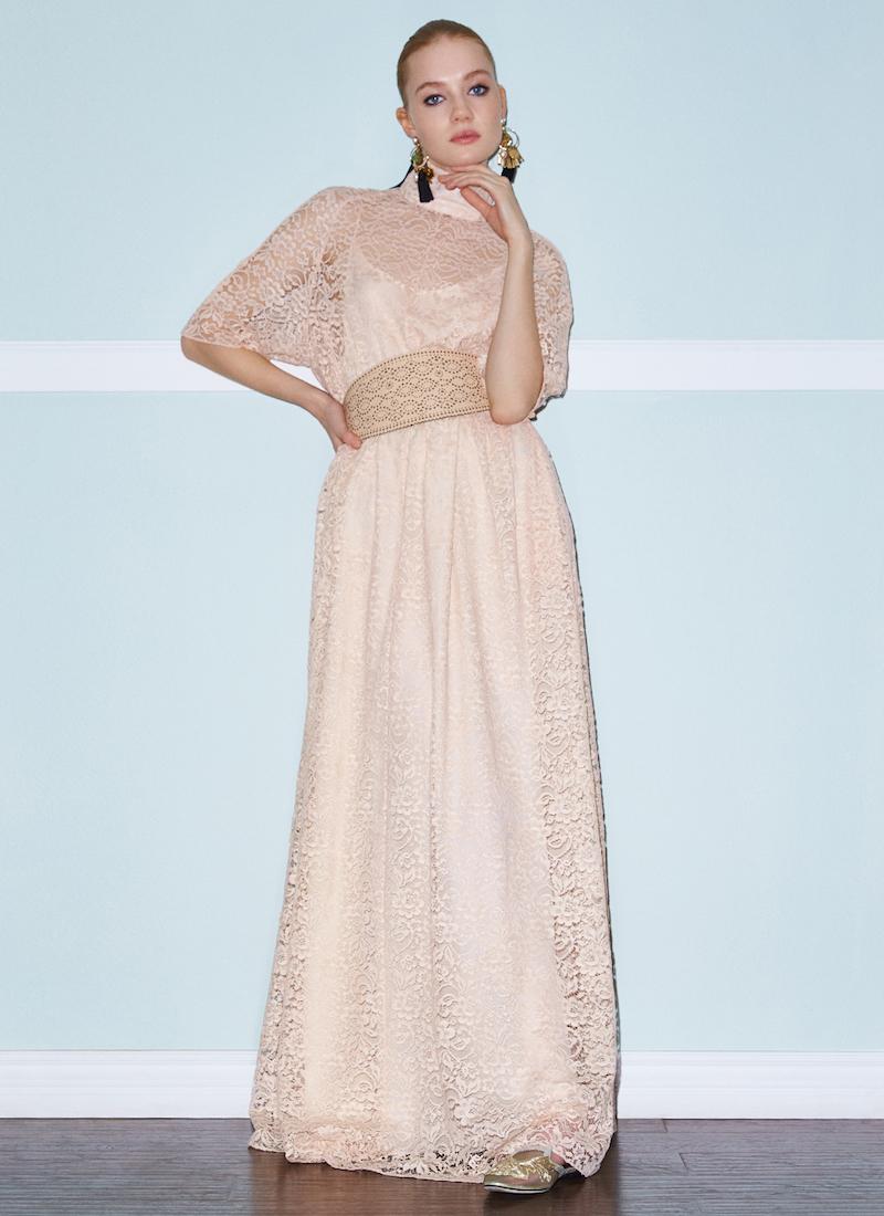 Ryan Roche French Lace Dress