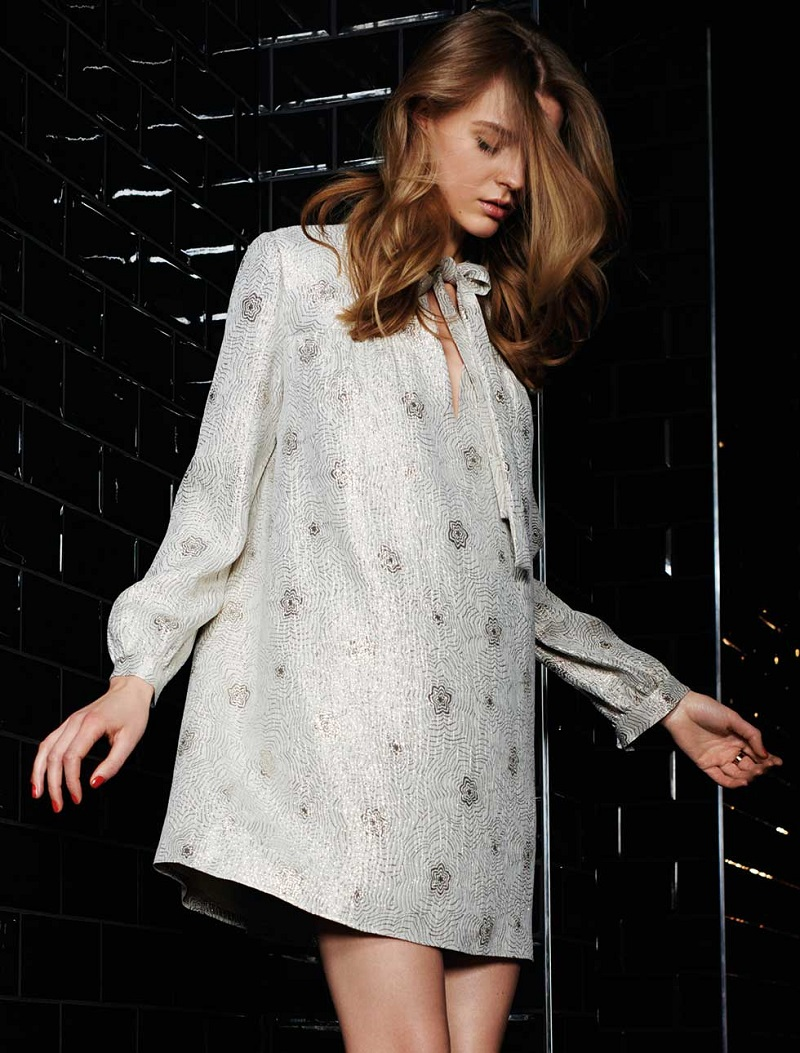 Saint Laurent Metallic silk-blend jacquard dress