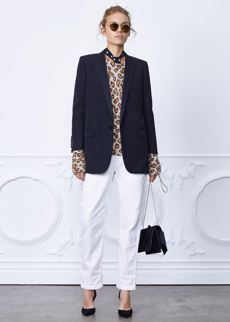 Saint Laurent Satin Lapel Tux Jacket