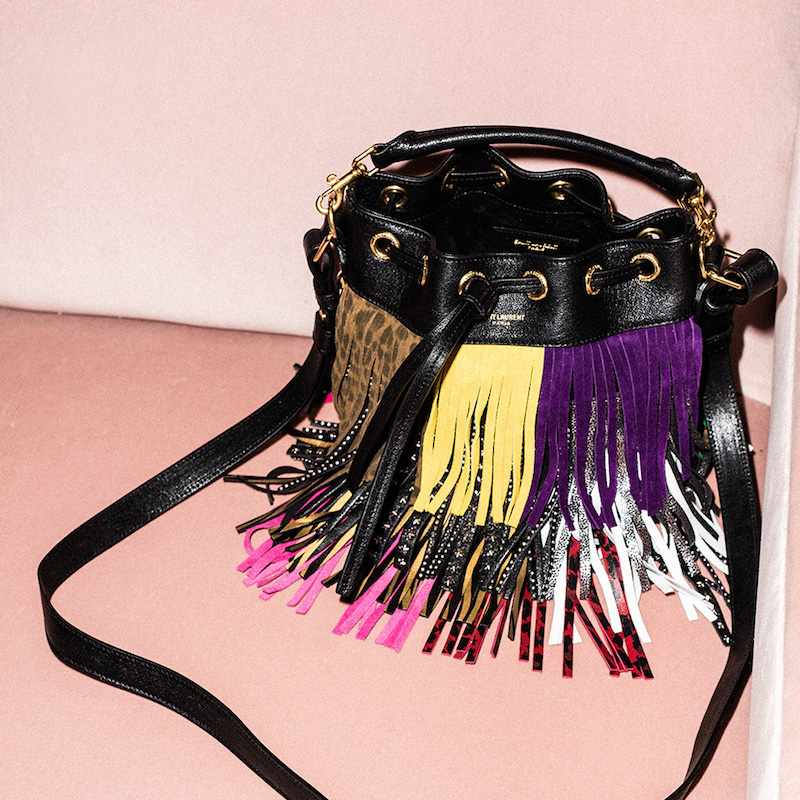 Saint Laurent Small Monster Fringe Emmanuelle Bucket Bag