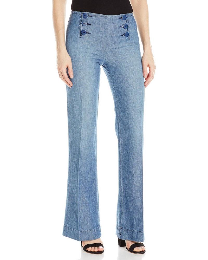 Sanctuary Clothing Wide Leg Linen Sailor Pant