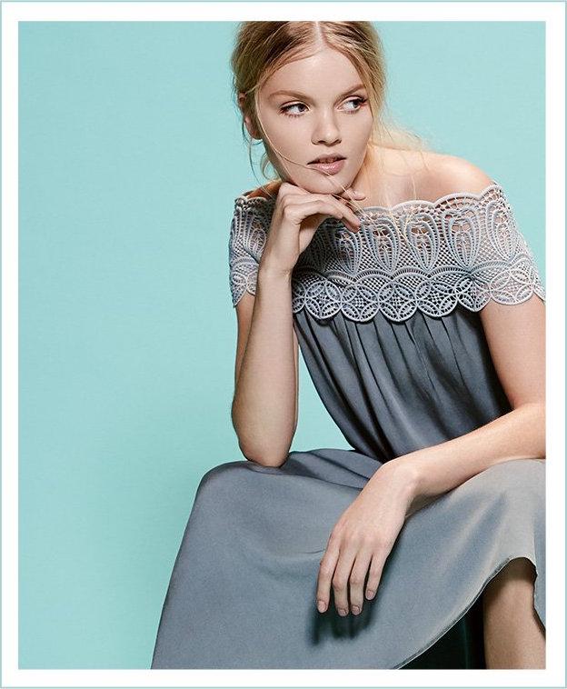 Self Portrait Lace Shoulder Maxi Dress_1