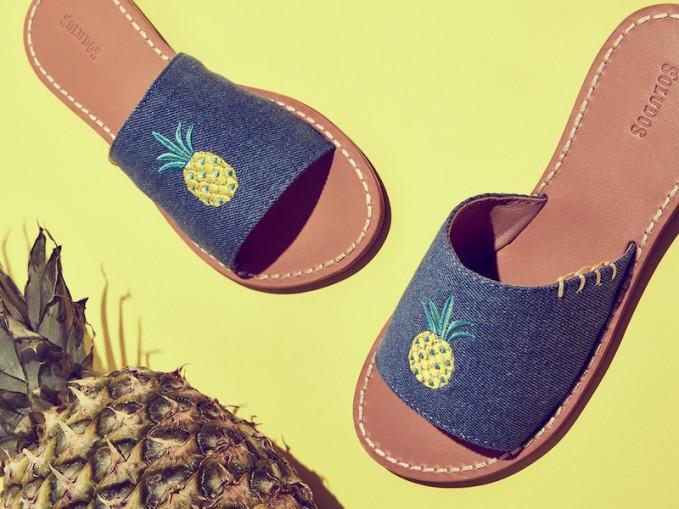 Soludos Pineapple Slide Sandals