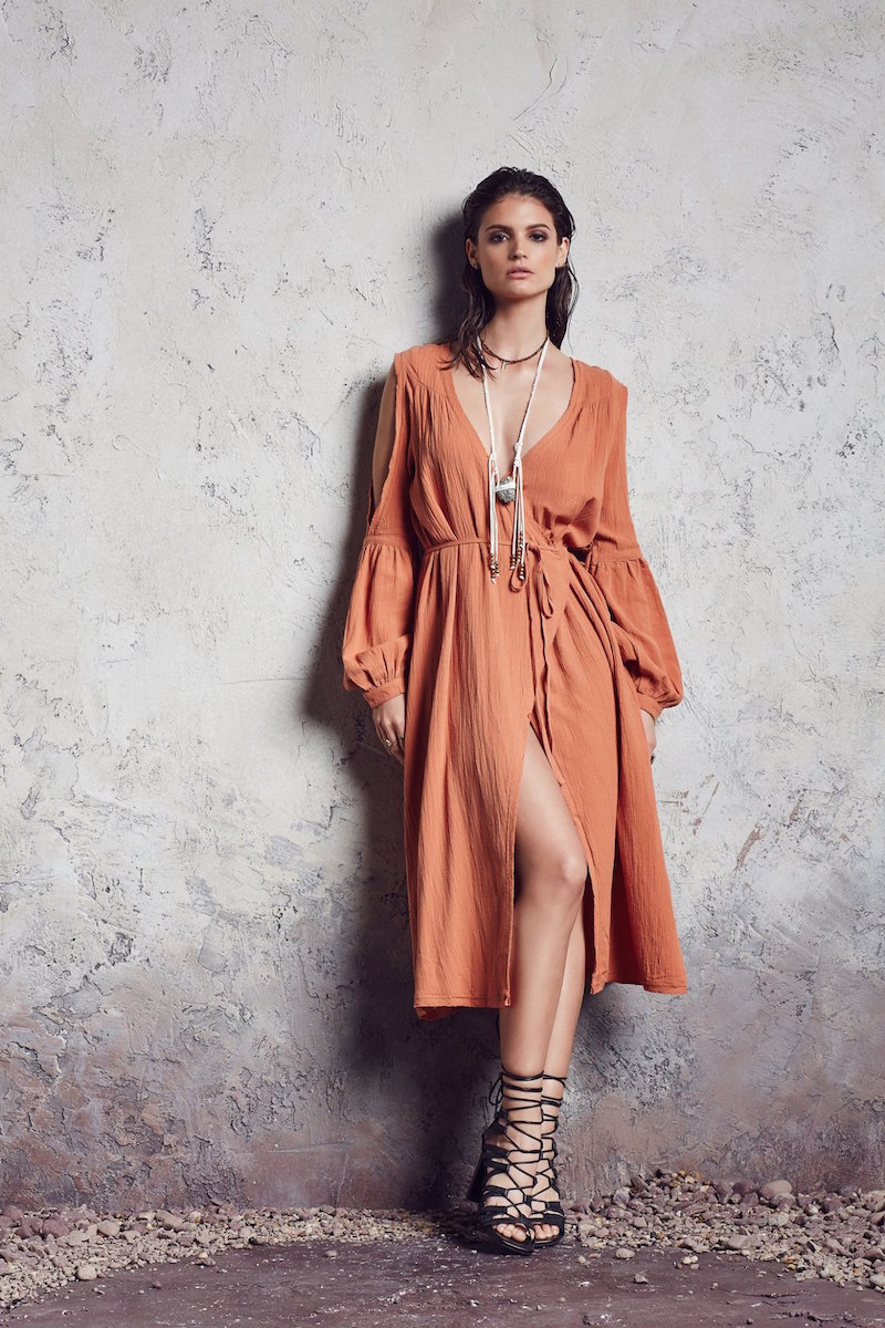 Somedays Lovin Bohemia Cold Shoulder Wrap Dress