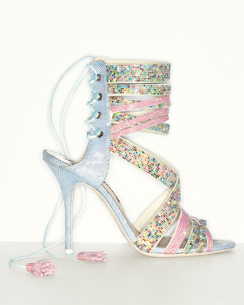 Sophia Webster Adeline Dreamy Crystal Lace-Up Sandal