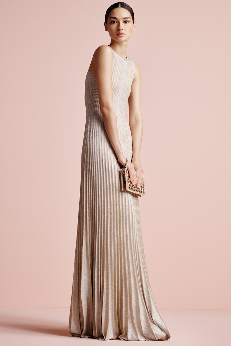 St. John Collection Kiklos Shimmer Knit Gown