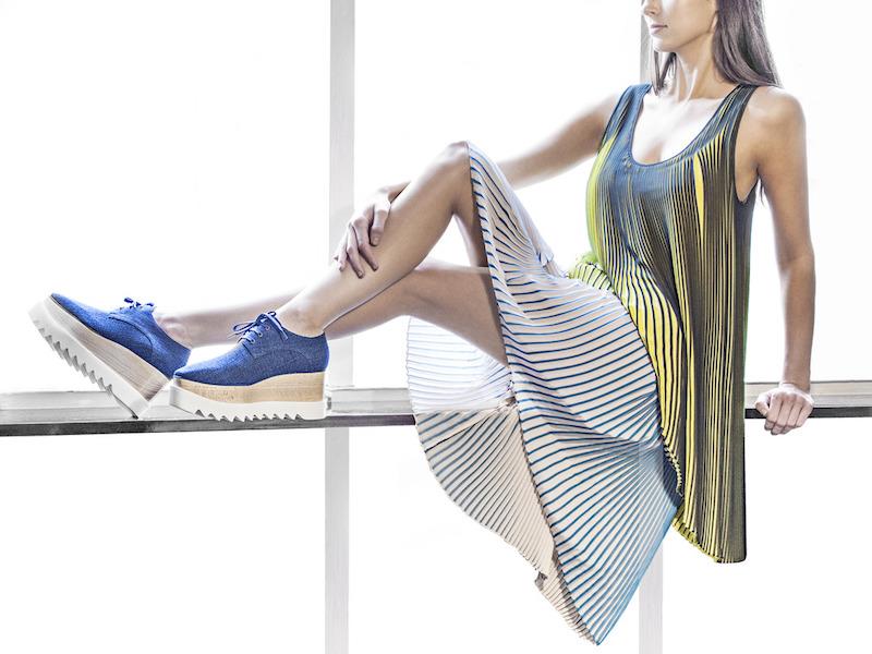 Stella McCartney Denim Platform Derby Shoes