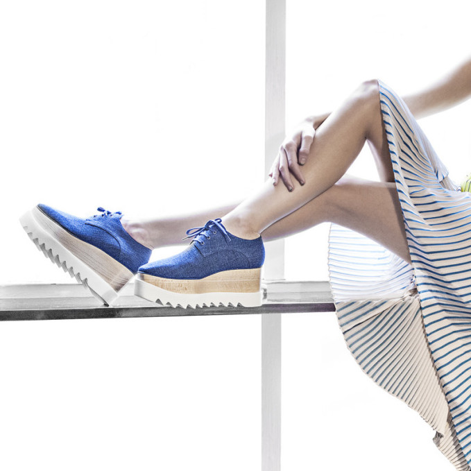 Chaussures En Denim Bleu Clair Mccartney Stella LBZd0