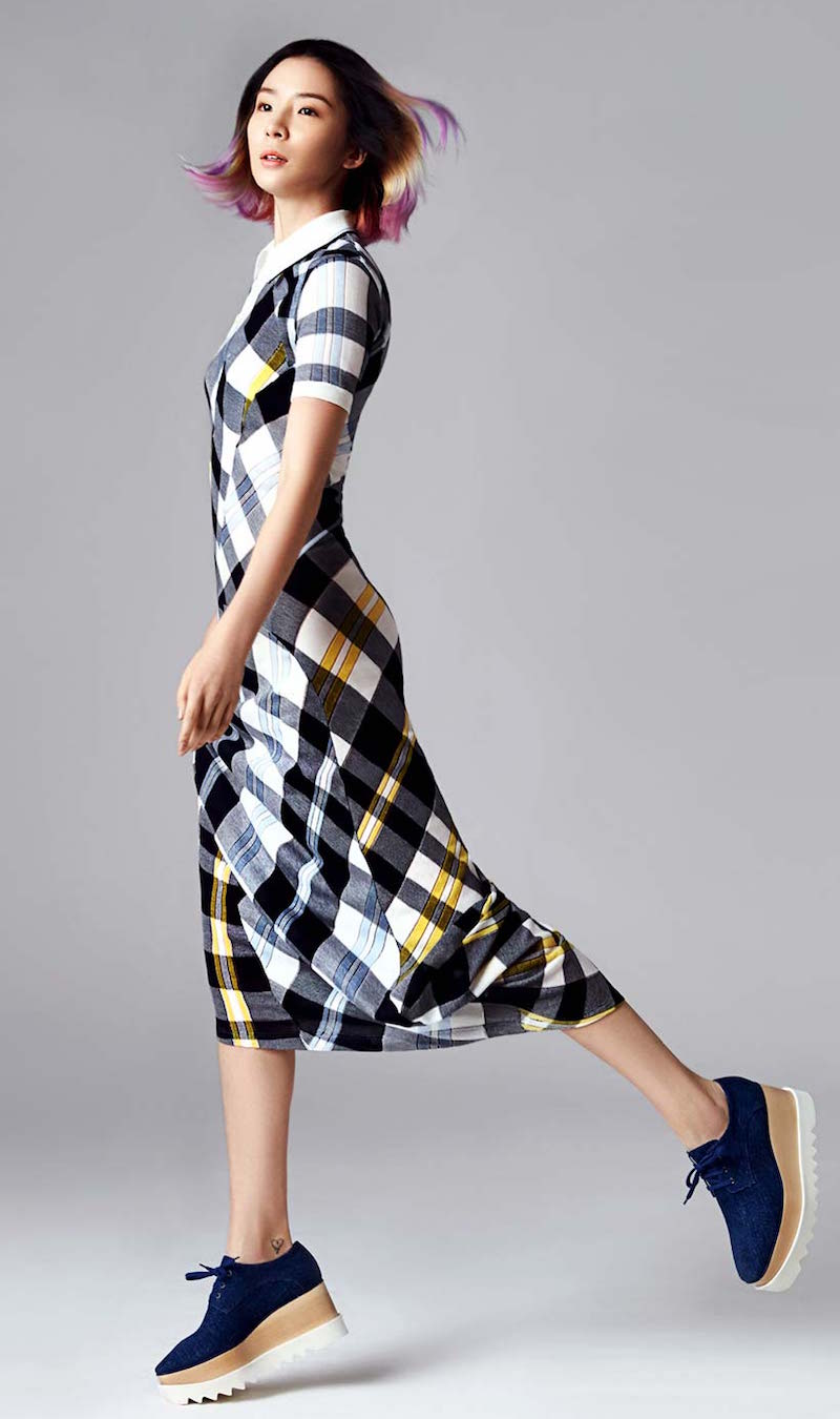 Stella McCartney Plaid Cotton Maxi Dress