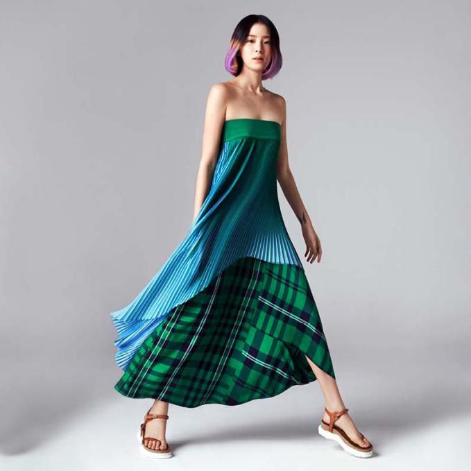 Stella McCartney Strapless Pleated Dress