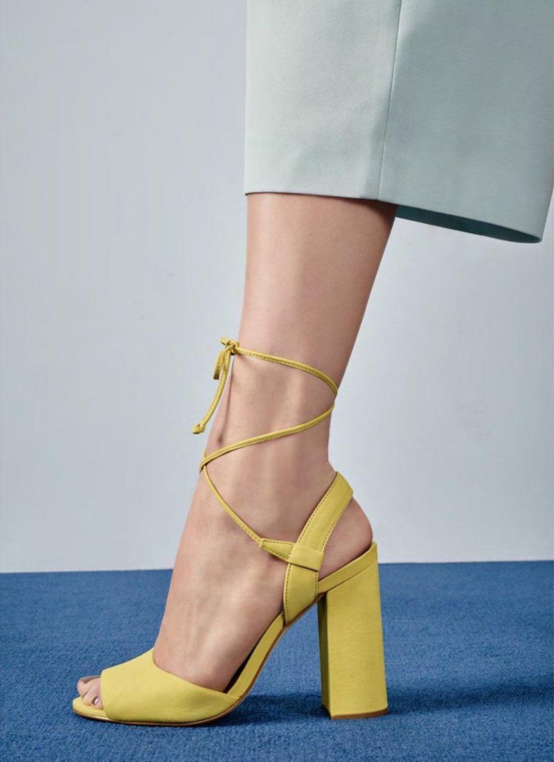 Steve Madden Serrina Block Heel Lace Up Sandal