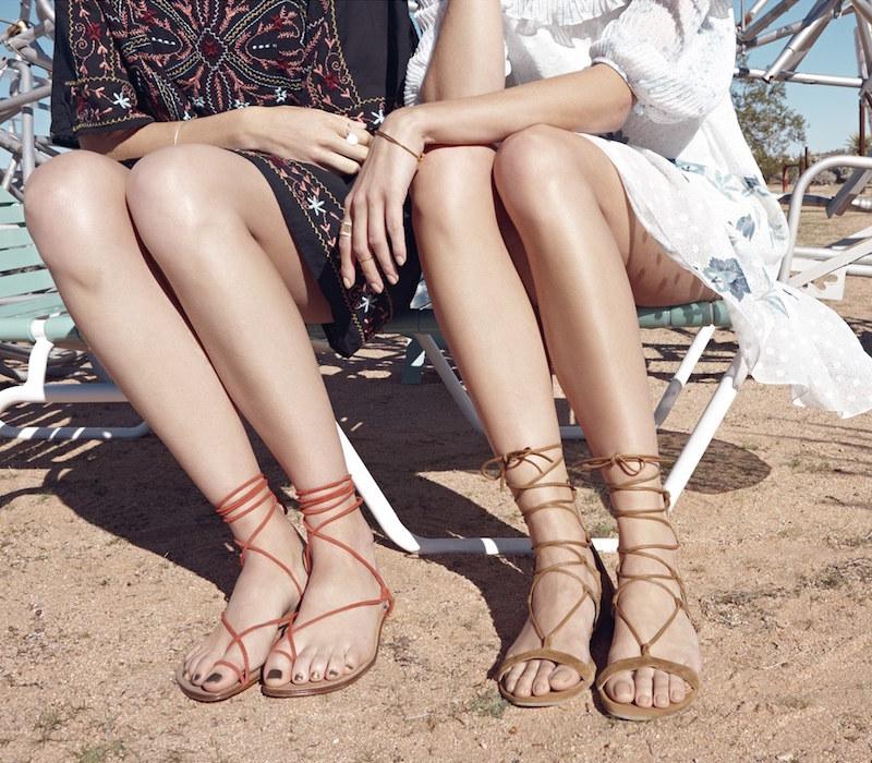 Stuart Weitzman Tie-Up Sandal