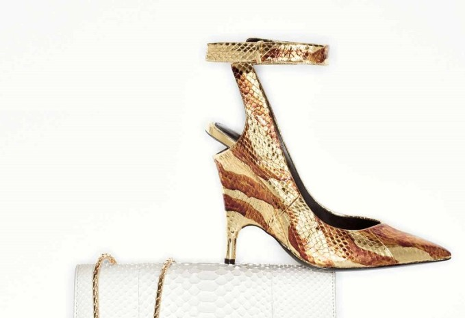 TOM FORD Watersnake Ankle-Wrap Pump-