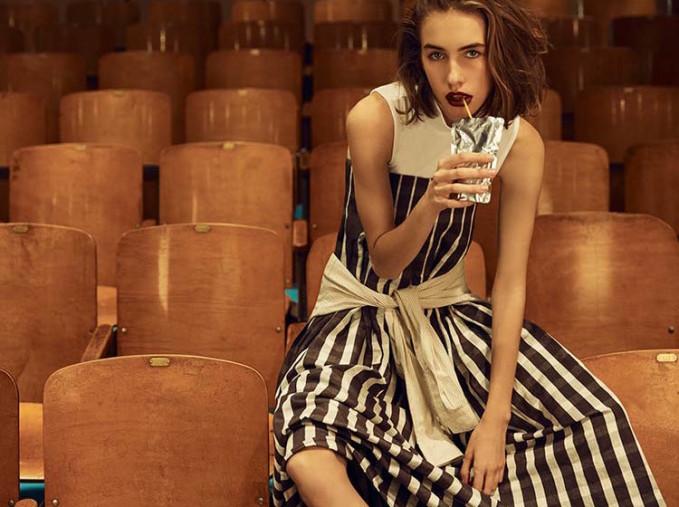 Tanya Taylor Khaki Menswear Stripe Car Button Up