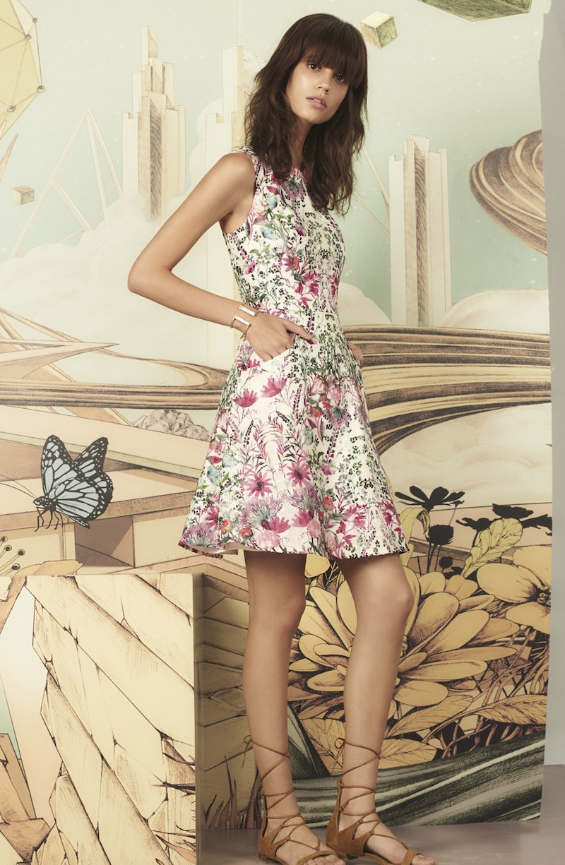 Ted Baker London Gaea Floral Print Fit & Flare Dress