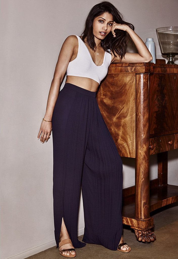 Tess Giberson Pleated Wide Leg Pants
