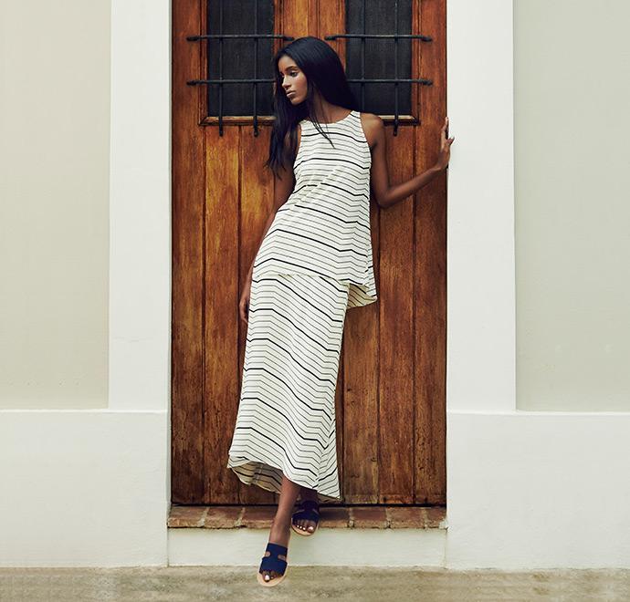 Theory Vivridge Bevel-Print Midi Silk Skirt