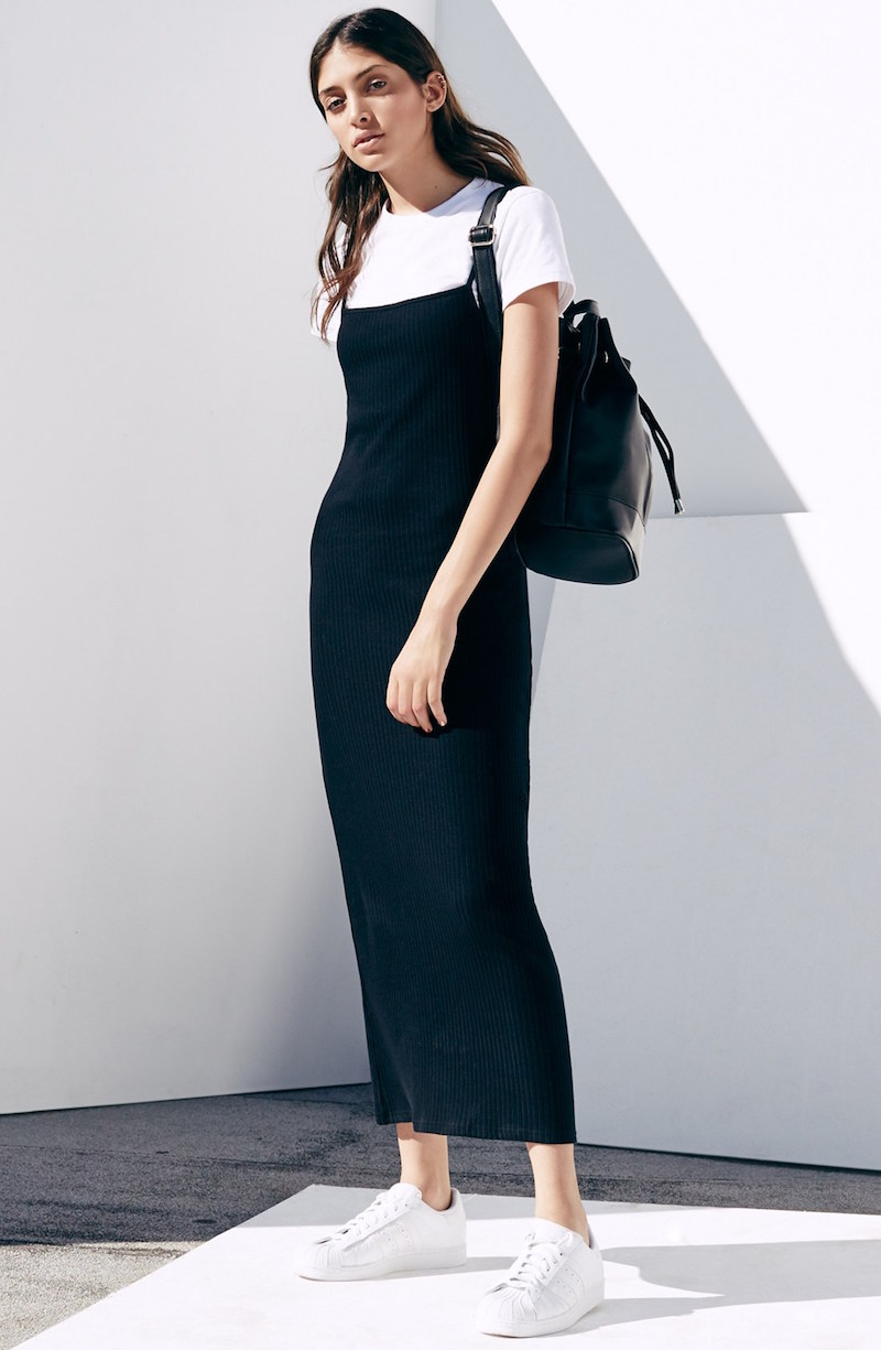 Topshop Jersey Midi Dress with Tee