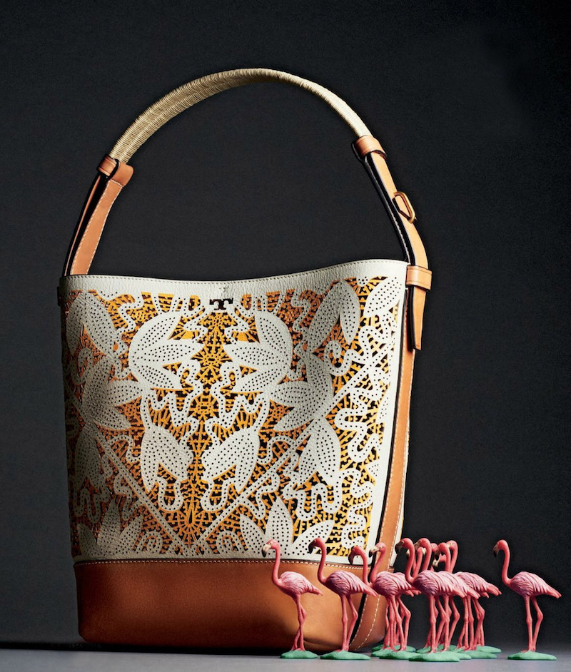 Tory Burch Floral Laser-Cut Bucket Tote Bag_1