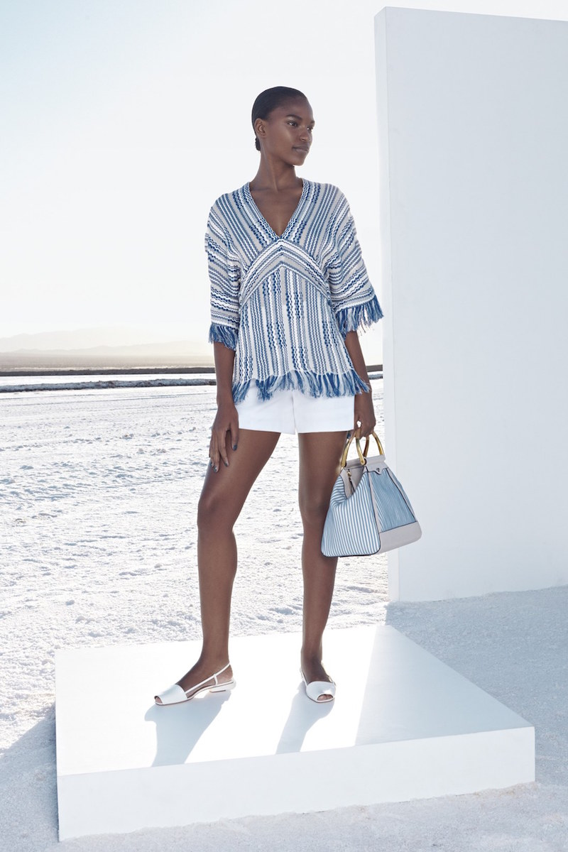 Tory Burch Gwen Fringe Trim Tunic