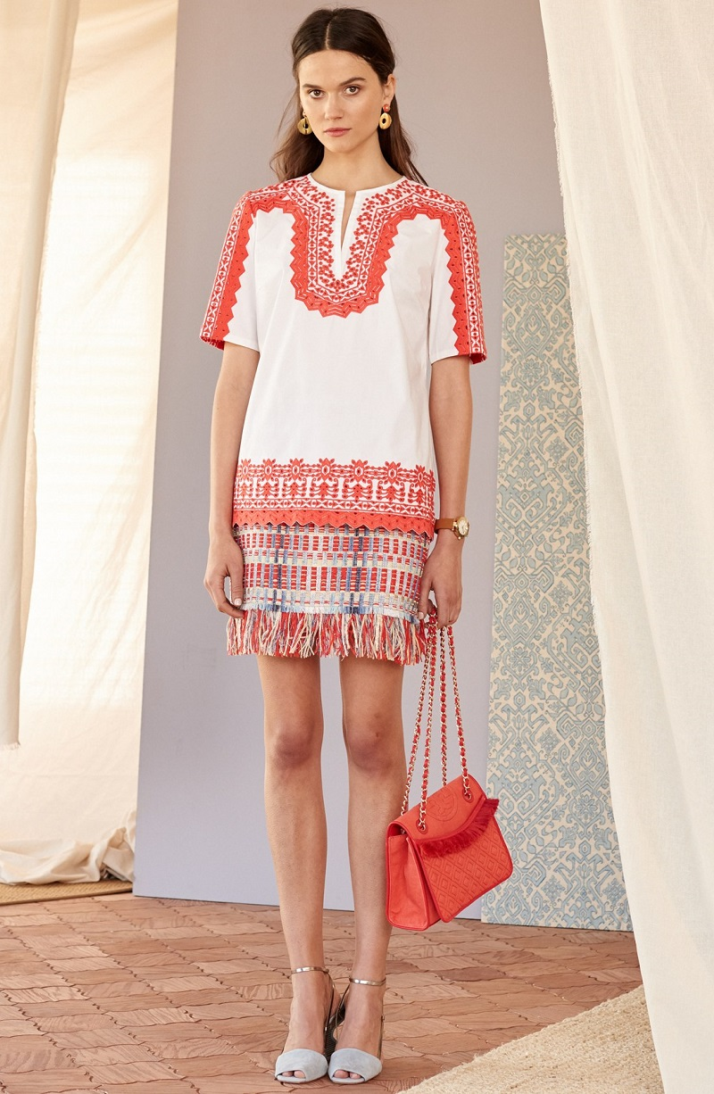 3f66686a7864 ... spring 2016 collection at Nordstrom. Tory Burch Isla Embroidered  Stretch Cotton Tunic