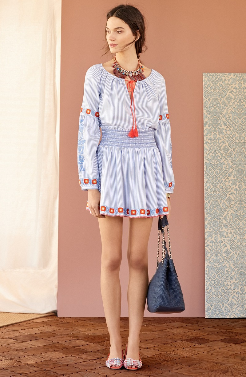 Tory Burch Madison Embroidered Cotton Tunic