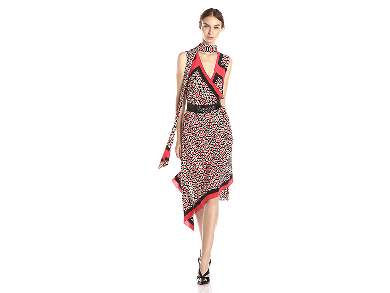 Tracy Reese Printed Belted Dress