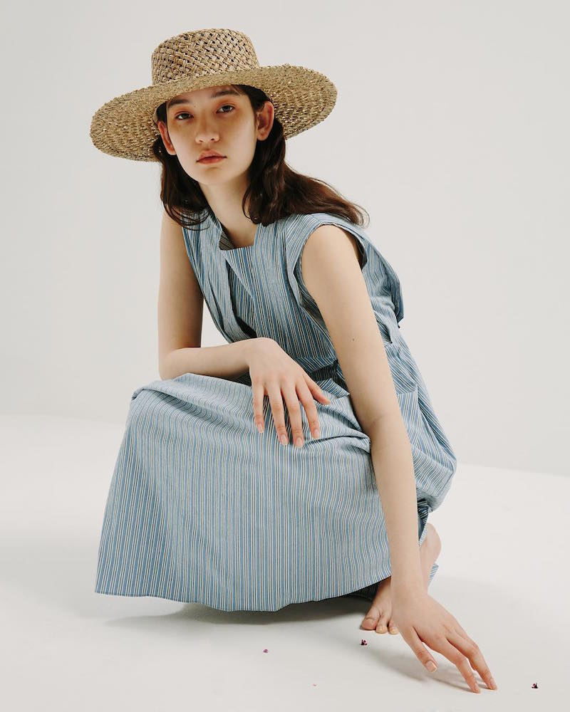 Trademark Shadow Stripe Tie Dress