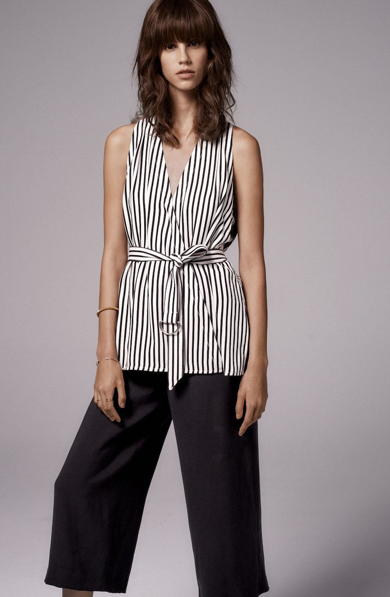 Trouvé Stripe Belted Top