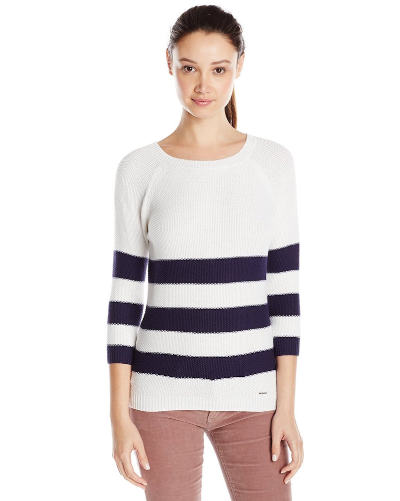 U.S. Polo Assn. Juniors' Variegated-Stripe Sweater