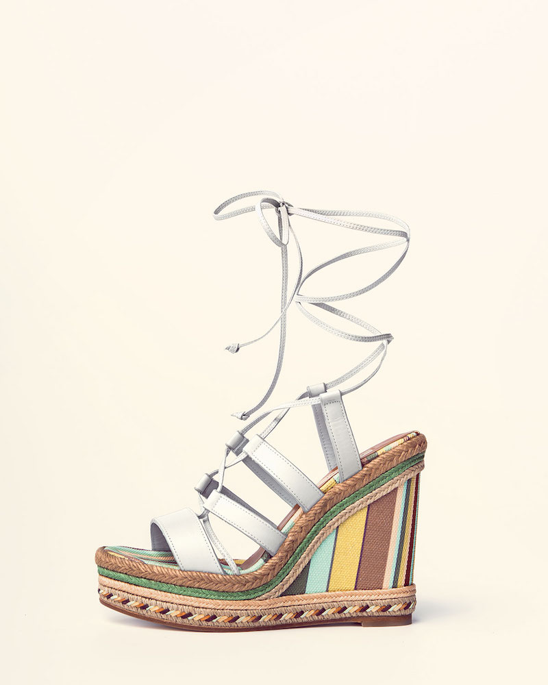 Valentino Leather Lace-Up Espadrille Sandal_1