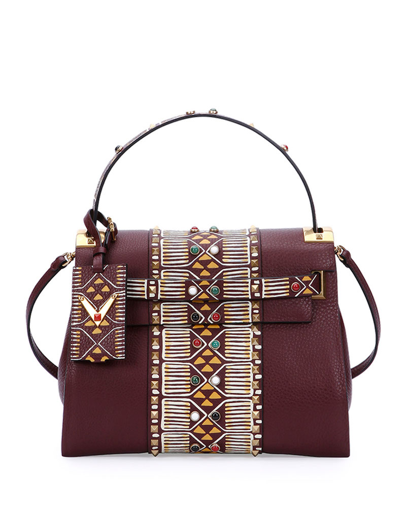 Valentino My Rockstud Medium Beaded Satchel Bag