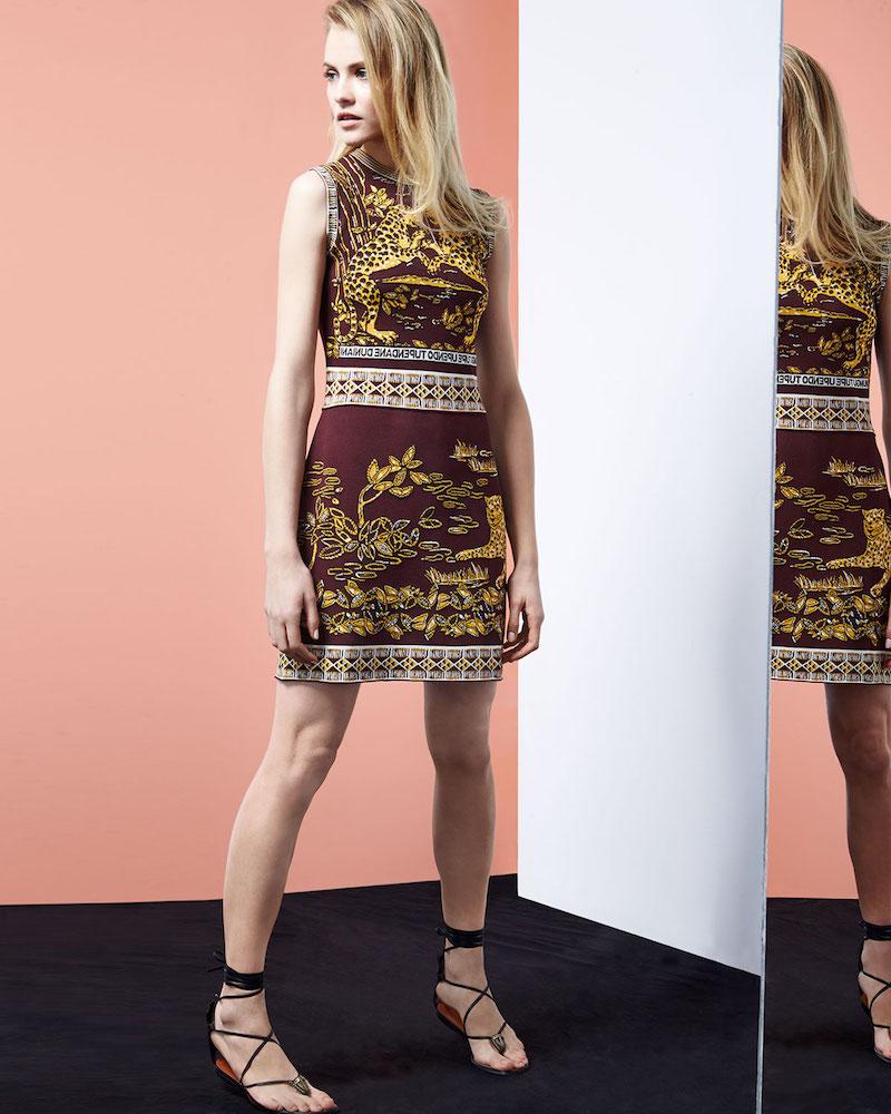 7f19097c5055 Shop Valentino Spring 2016 Collection at Neiman Marcus. Valentino  Sleeveless Jaguar-Print Sheath Dress