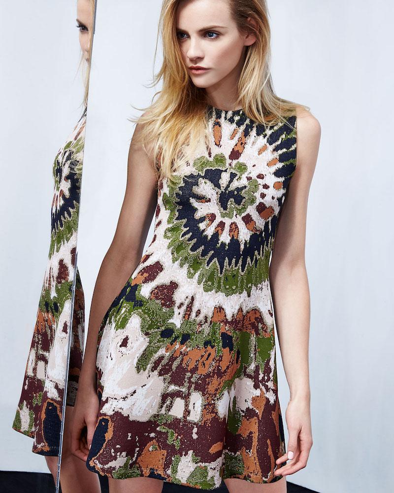 Valentino Sleeveless Tie-Dye Mini Dress