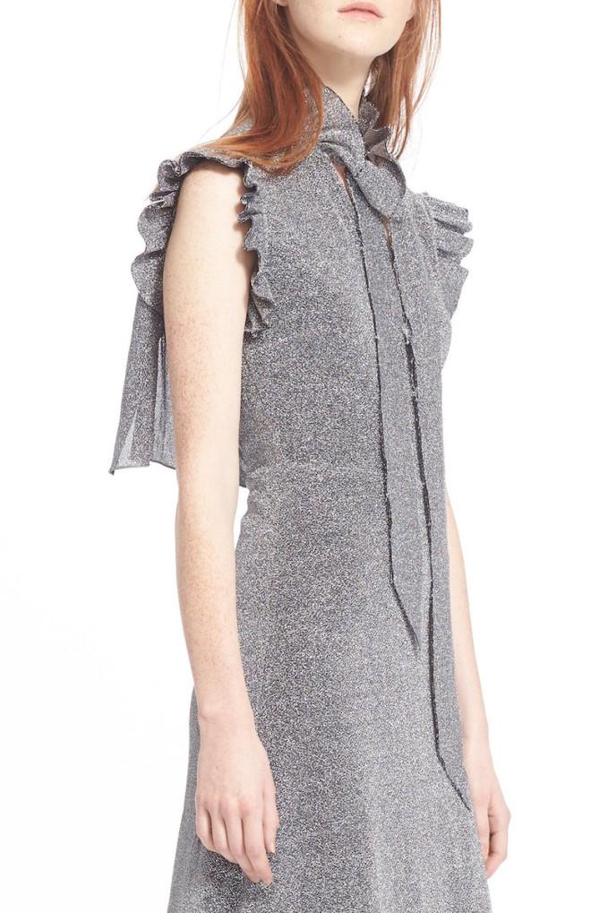 Vetements Metallic Ruffle Midi Dress_1