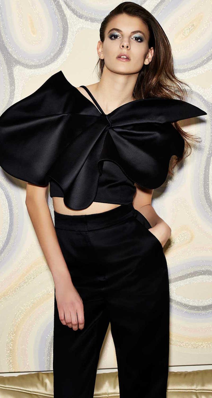 Vika Gazinskaya Shoulder Strap Asymmetric Flower Print Top