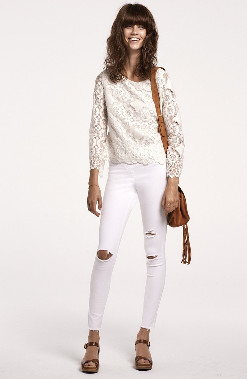 Vince Camuto Bell Sleeve Lace Blouse