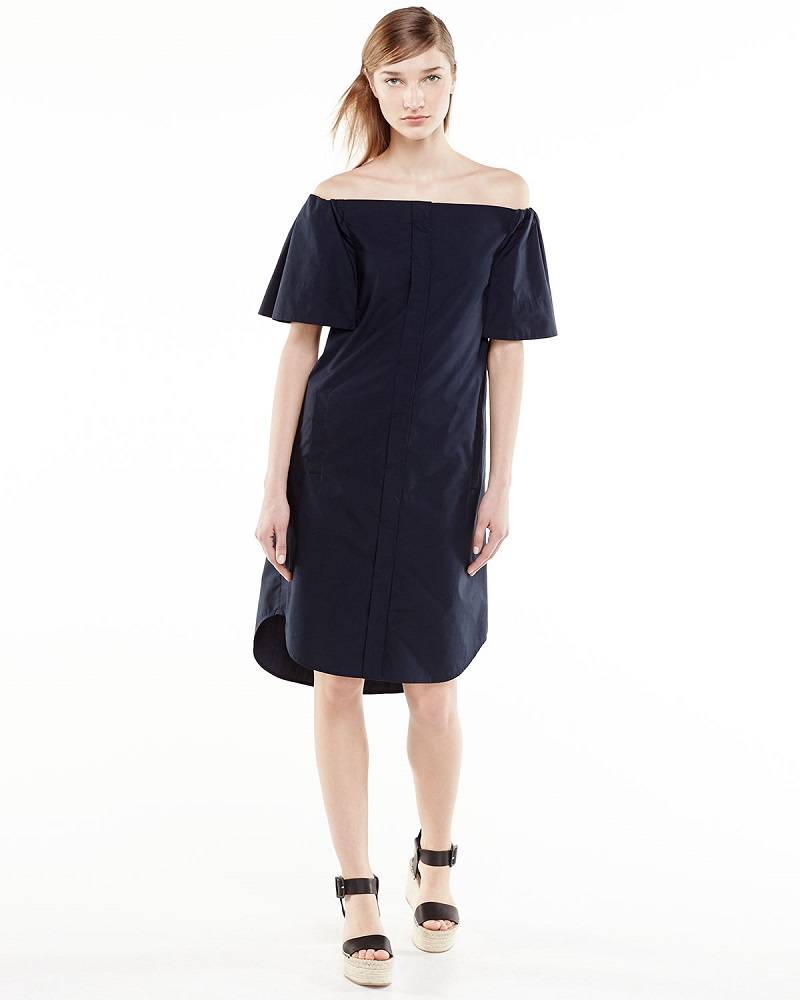 Vince Off-The-Shoulder Cotton Dress