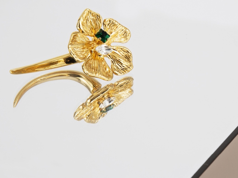 Vionnet Single Flower Stud Earring
