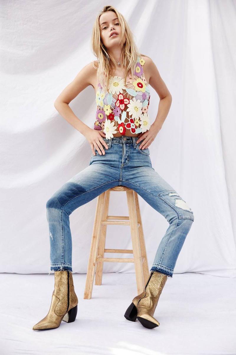 Wildfox Couture Flower Crochet Tank