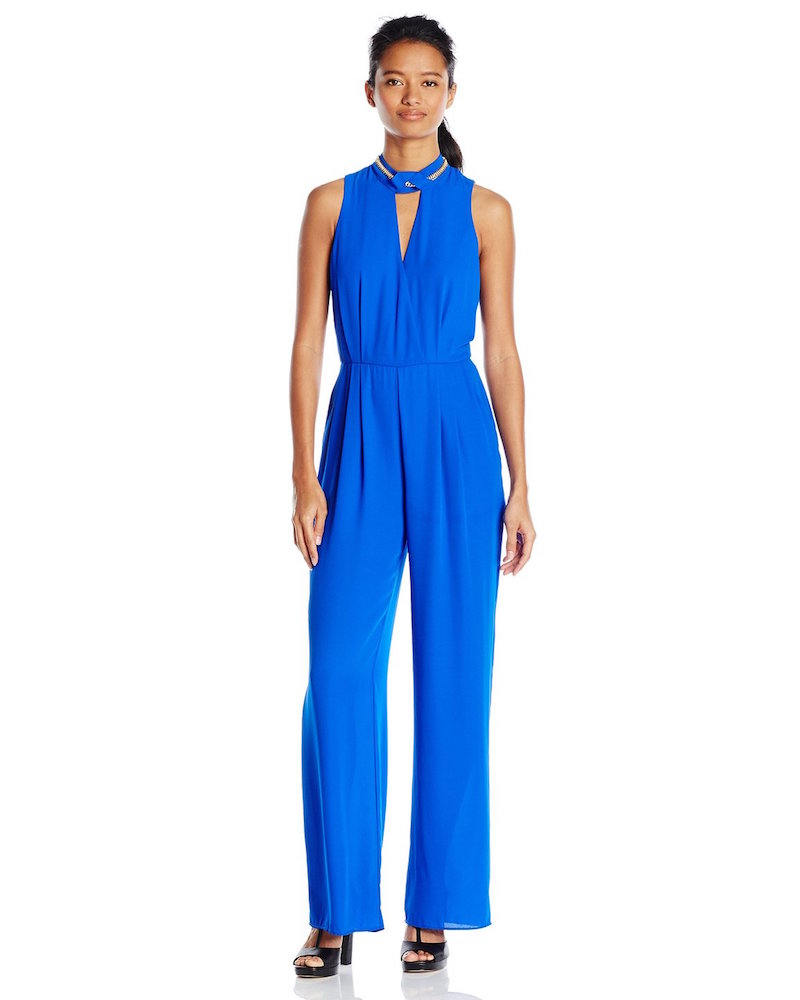 XOXO Junior's Sleeveless Chain Neck Jumpsuit