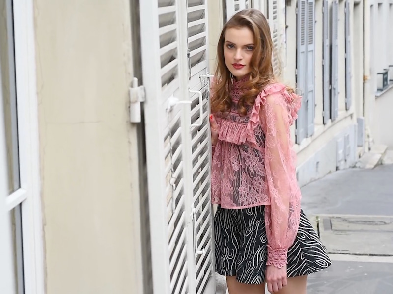 Zimmermann Mischief Peony Lace Blouse