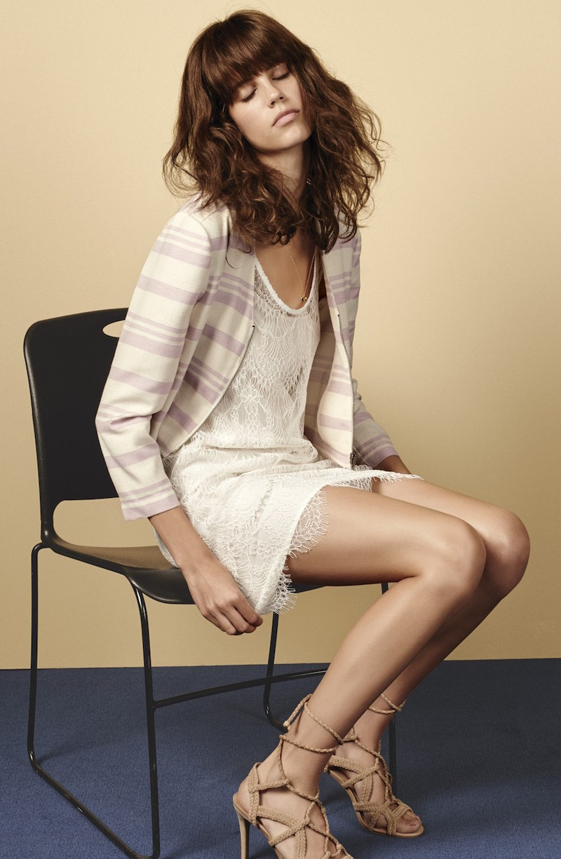 cupcakes and cashmere Stripe Crop Jacket