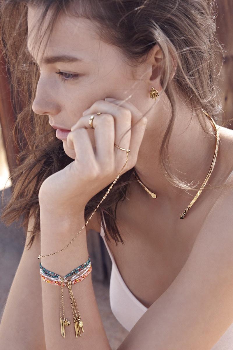 gorjana Taner Double Strand Bead Bracelet