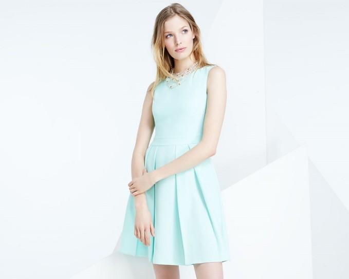 kate spade new york sleeveless bow-back mini dress -