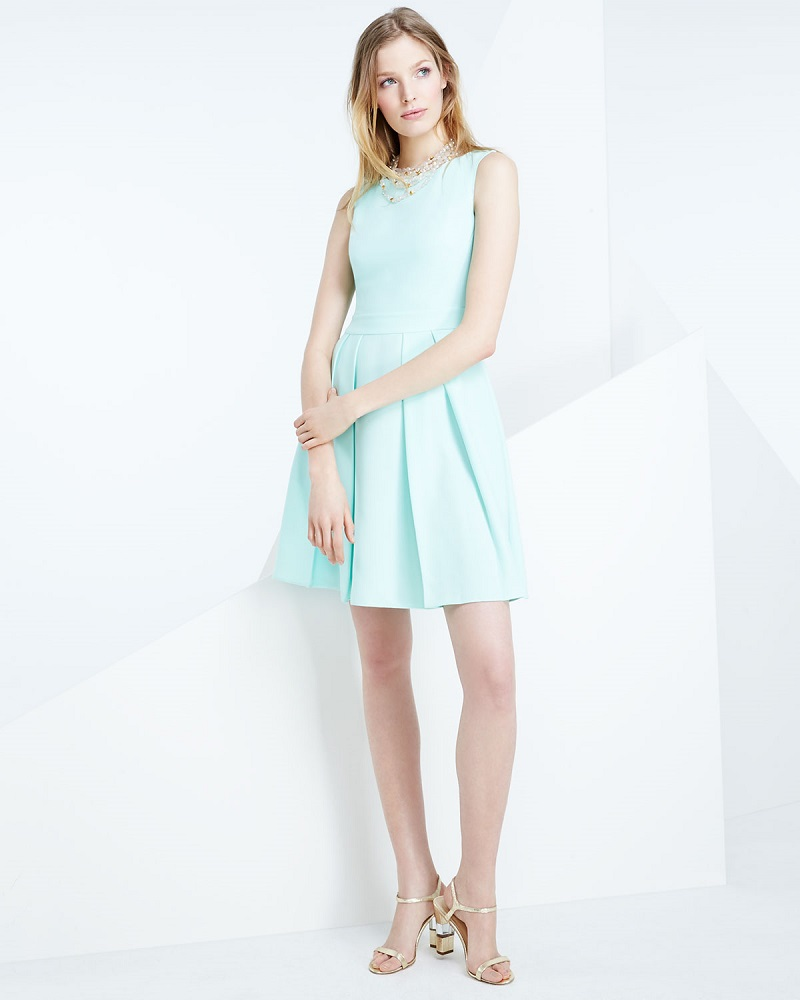 kate spade new york sleeveless bow-back mini dress