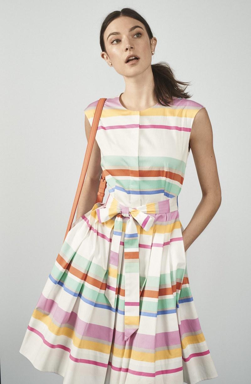 kate spade new york stripe shirtdress