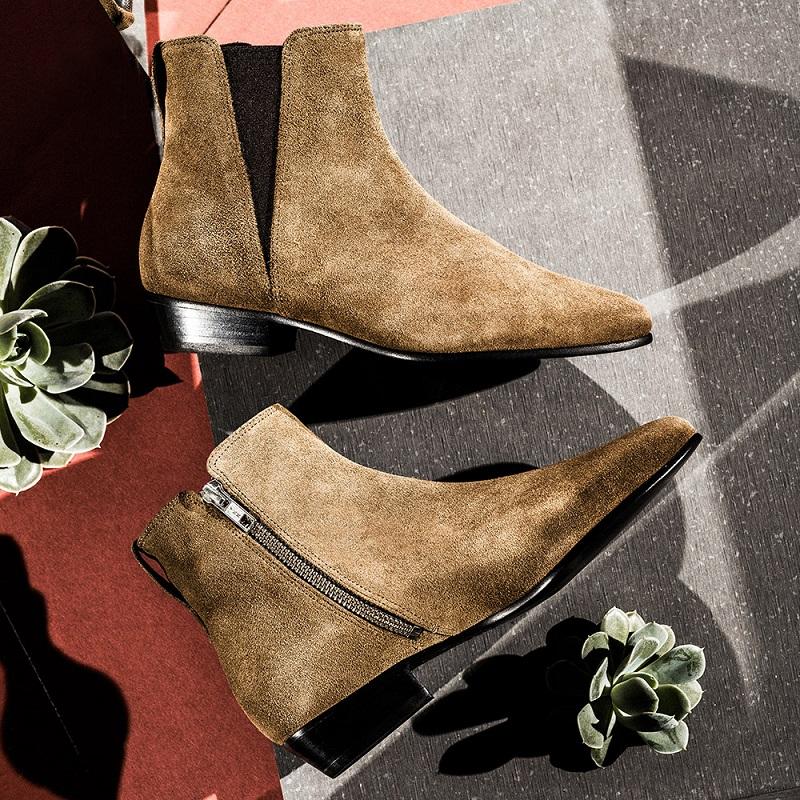 Étoile isabel marant Patsha Calfskin Velvet Boots